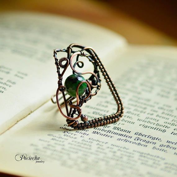 Asymmetrical statement zoisite ring adjustablebig ring