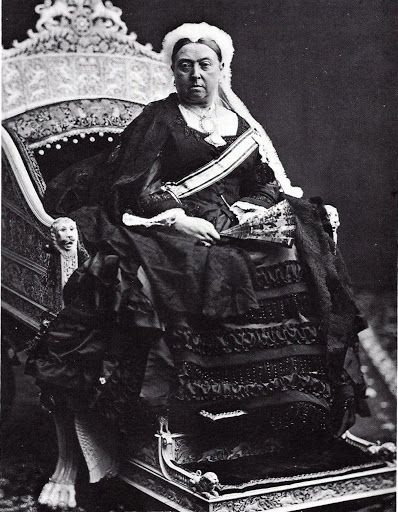 An official portrait photograph of Her Majesty Queen Victoria in 1876, the year in which Parliament accorded her the title 'Empress of India.'