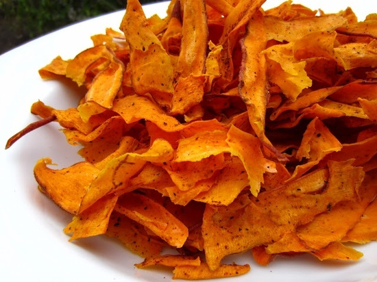 Crunchy Baked Yam Chips