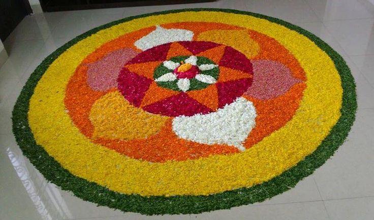 Flower Rangoli for Onam