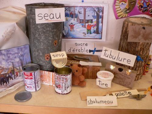 Vocabulaire des objets reliés à la cabane à sucre