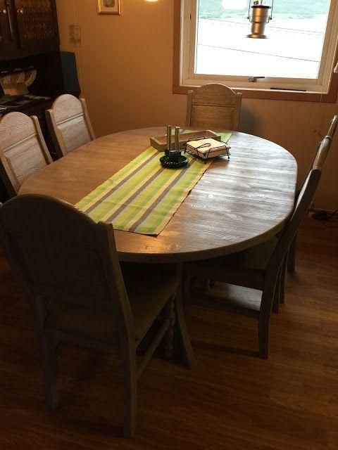 """Tonjes hobbyblogg: """"gammelt"""" treverk, nytt spisebord og stoler"""