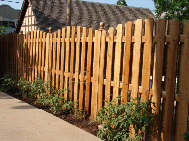 custom arched shadow box fence