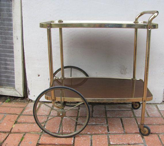 This is my cart exactly!  Vintage Metal Tea Carts | Vintage Mid Century Big Wheel Cosco Tea Cart Bar Cart Utility Cart ...