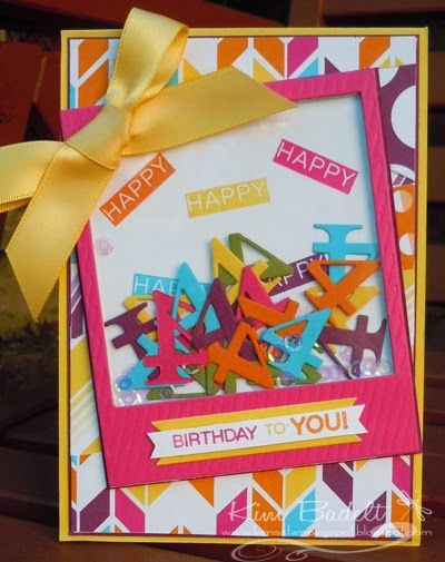 Great idea! Shaker card using the number for the birthday!