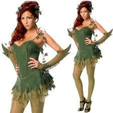 Ladies Sexy Poison Ivy Superhero Batman Fancy Dress Costume Halloween Outfit