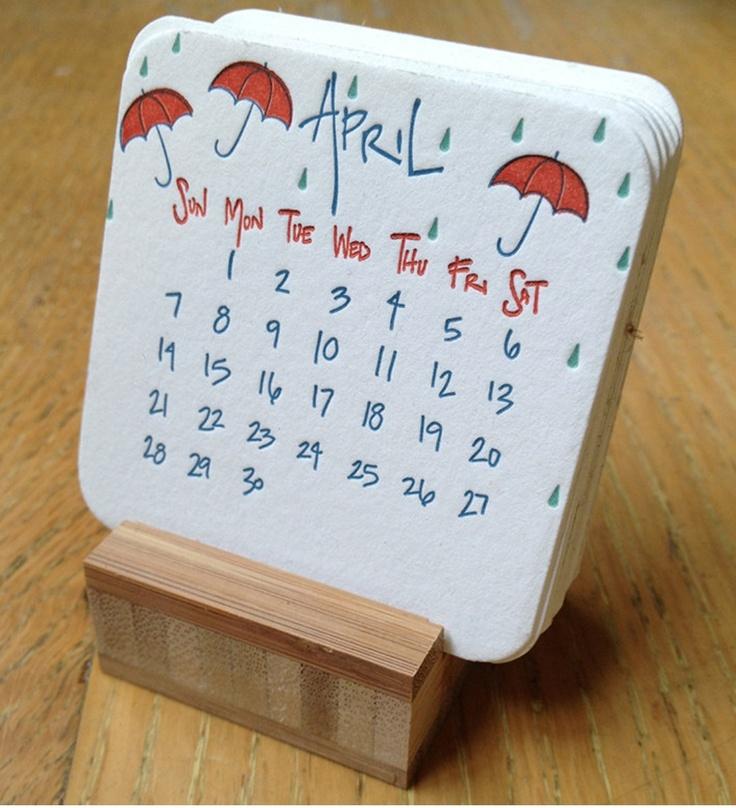 Diy Calendar Card : Best april calendar ideas on pinterest