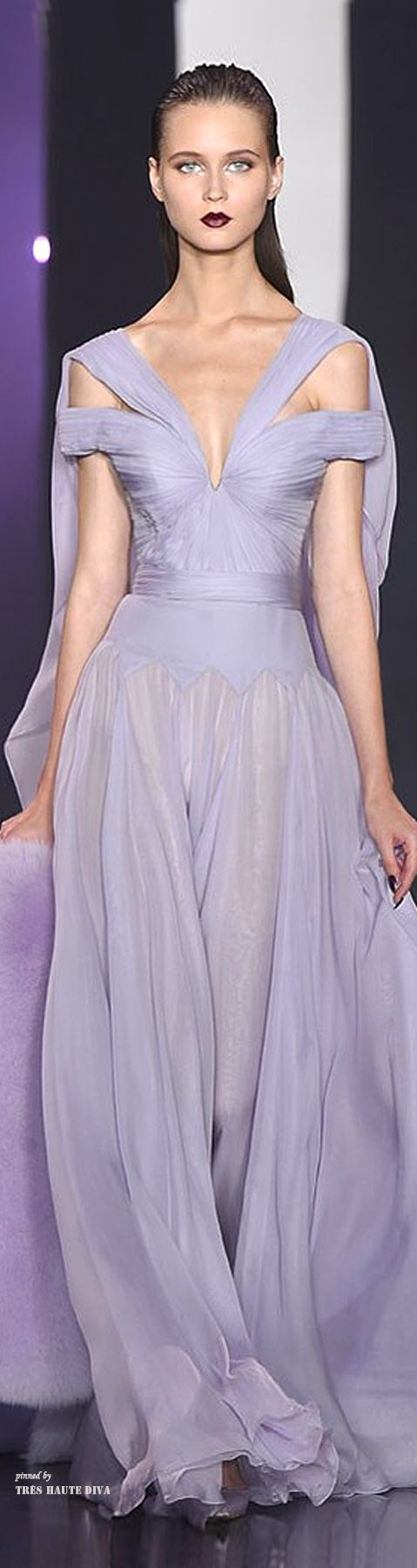 Pantone Color 2015 February...Sheer lilac...Ralph & Russo Couture