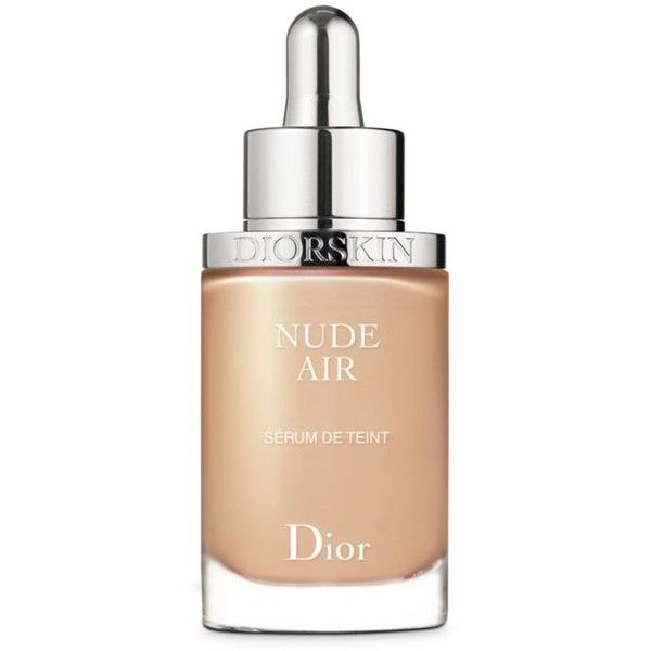 Dior Light Beige Diorskin Nude Air Nude Healthy Glow Ultra-Fluid Serum... found on Polyvore featuring beauty products, makeup, face makeup, foundation, light beige, sheer foundation, christian dior and christian dior foundation