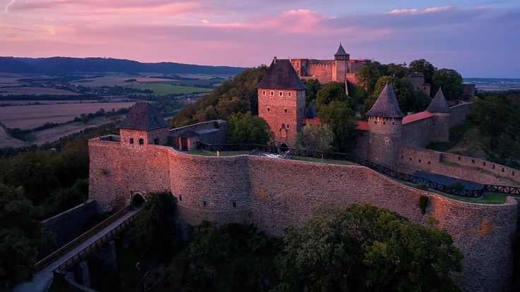 Origins of a stronghold atop this Central Moravia hill date back to the late 13th century and