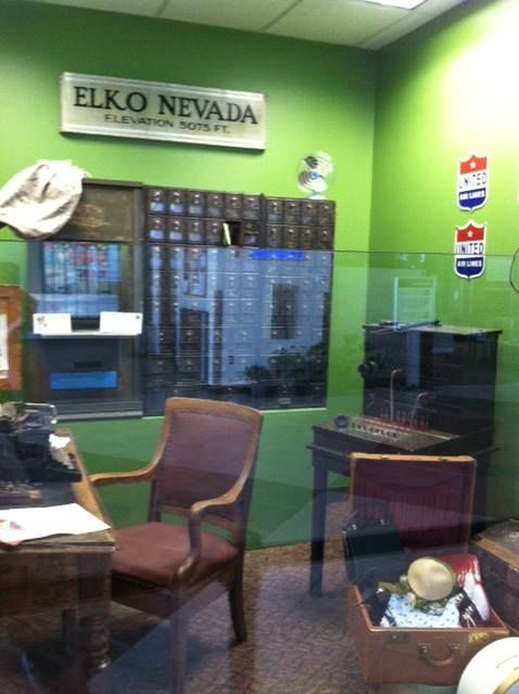 Next time you are at Elko Regional Airport be sure to view our newest history exhibit, Welcome to Elko. It features communications and travel items historically related to Northeastern Nevada. Visit it and take a peek into the past:)