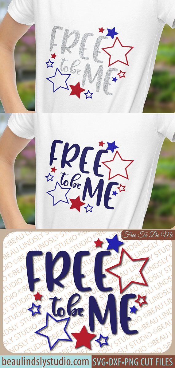 Freedom SVG, Free To Be Me SVG, Patriotic svg, USA svg, Happy 4th of July Clip Art, Silhouette svg Format File, Labor Day Cricut svg File, DXF File, PNG Image File  This design is a celebration of the freedoms we have in the US, where we can be just who we are. Many brave men and women fought so that we would have the rights that we do, so that everyone can be true to themselves. It reminds us that we truly have the right to the pursuit of happiness. By: www.beaulindslystudio.com
