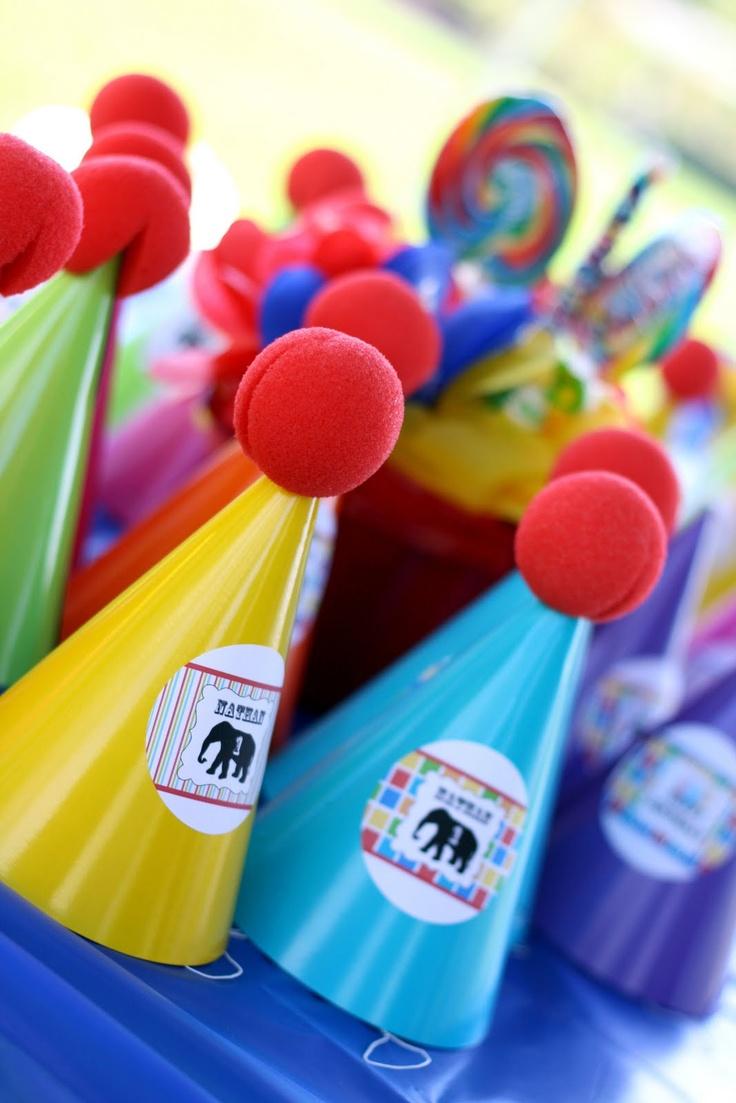 clown nose party hats