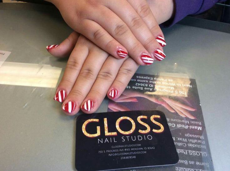 Peppermint Nails  by Angie Heinemann   Gloss Nails:  Schedule an appointment today  (208)887-8548