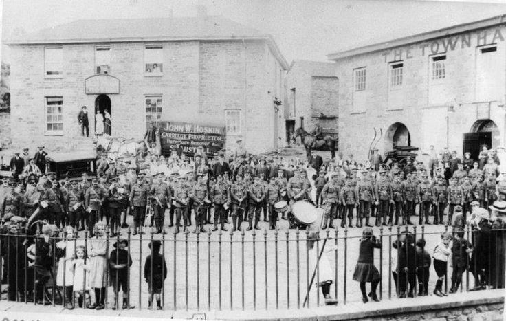 WORLD WAR I (1915)   St Blazey, Cornwall: Army recruiting     ✫ღ⊰n