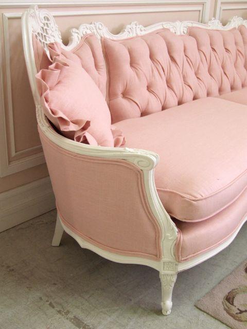interior design, home decor, furniture, couch, sofa, pink, white