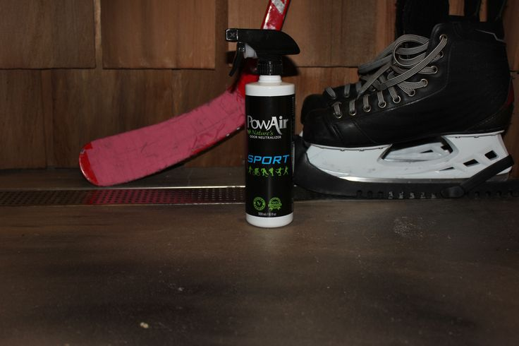 Hockey closet reeking of sweaty odors? Probably. No problem, use PowAir to eliminate odors.