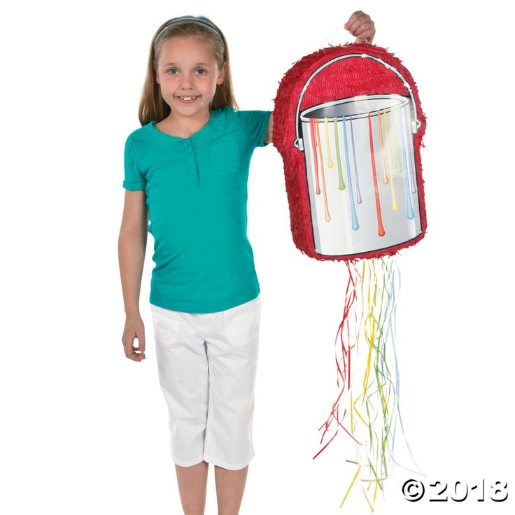 Fill your party with a touch of art, candy and fun! This Little Artist Piñata for kids is great for art class celebrations, school carnival activities, ...