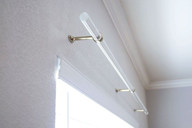 Acrylic Curtain Rod DIY - Stash of Panache