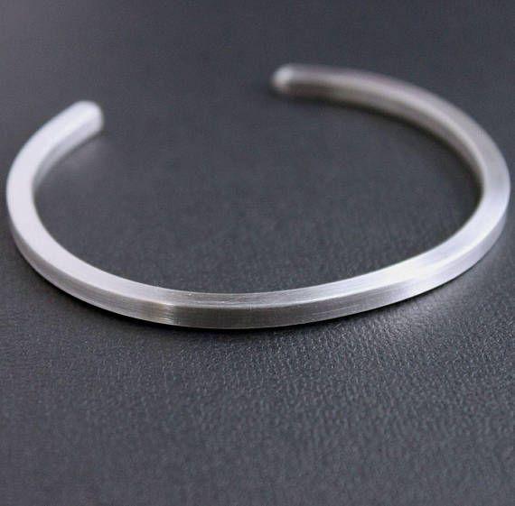 aluminium bracelet; open cuff bracelet; everyday bracelet; mens metal bracelet Bracelet