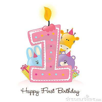 Happy 1st Birthday Clip Art Happy First Birthday Candle