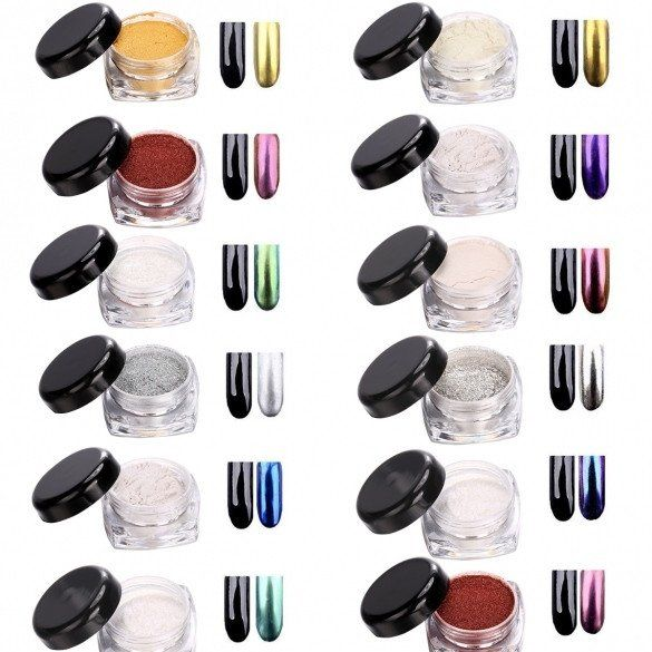 New Glitter Mirror Chrome Effect Dust Shimmer Nail Art Powder - Oh Yours Fashion - 6