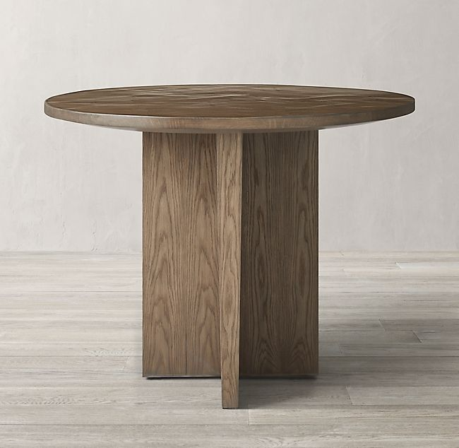 Wyeth Split Bamboo Floating Round Entry Table Round Entry Table Entry Table Entry Tables