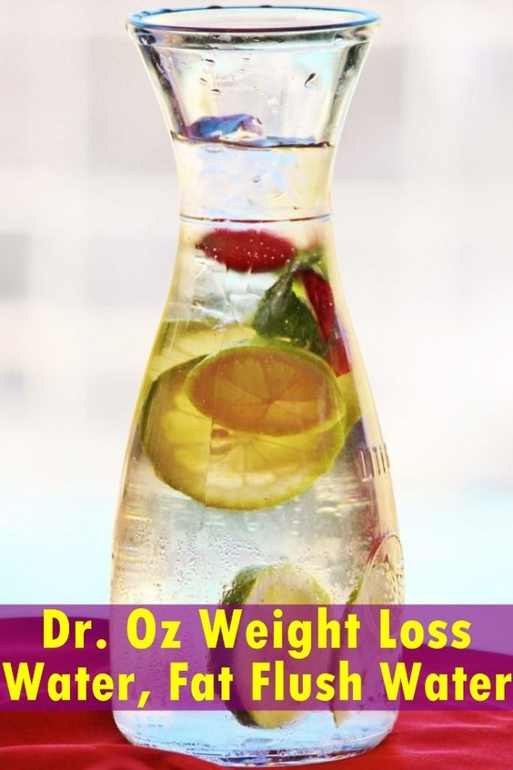 Dr. Oz water contains cucumber which will decrease bloating and water retention; it contains Tangerine, which will stabilize insulin, blood sugar...