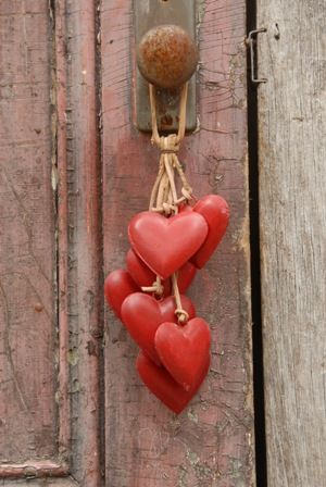 Red hearts ...