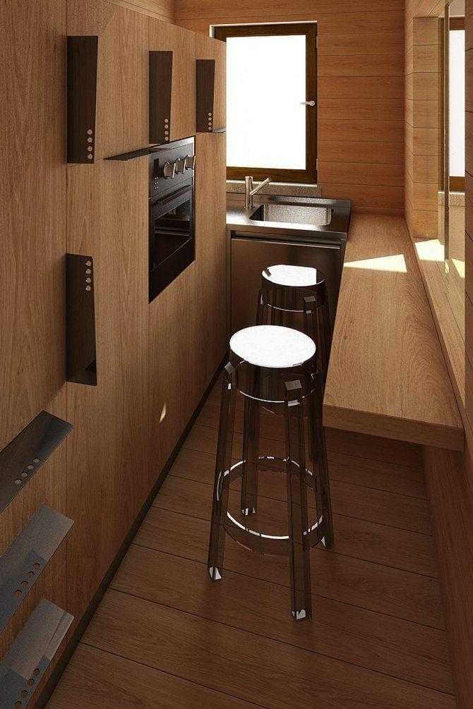Appartamento a Foppolo - progetto di interior design - cucina con sgabelli  cucina interamente disegnata, dall'anta alle maniglie