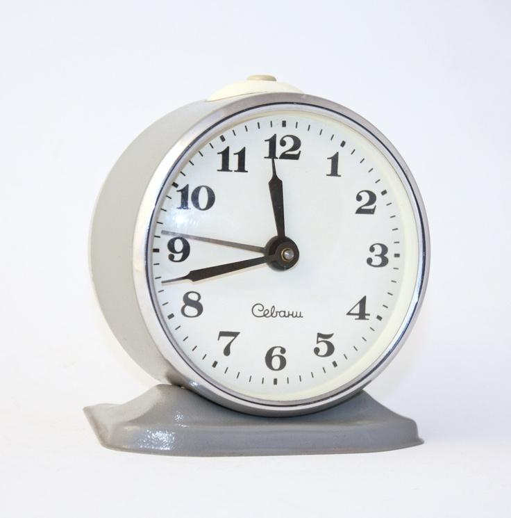 Vintage alarm clock Sevani from Armenia grey clock Soviet ...