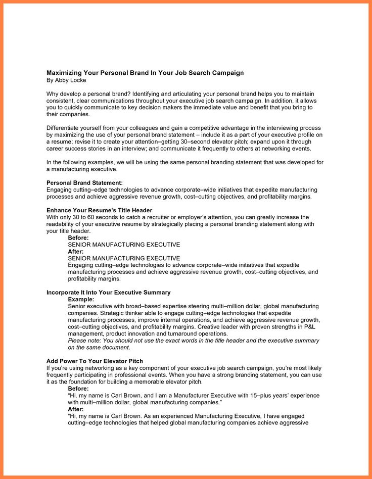 Resume Personal Statements Examples Superb 8 Resume