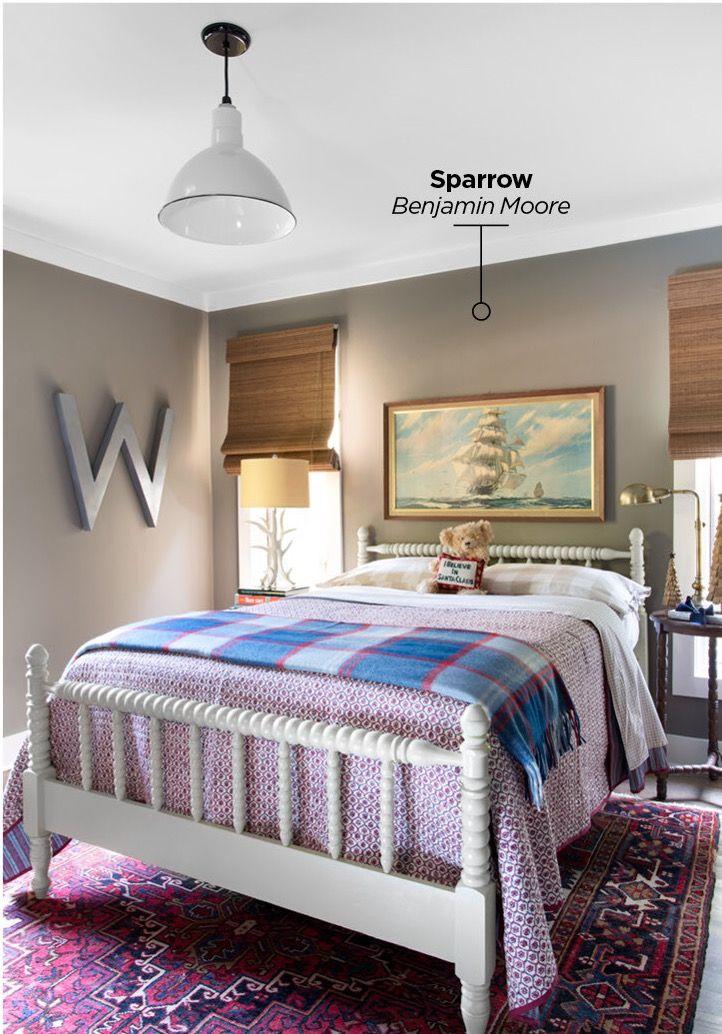 Wall color Sparrow by Benjamin Moore