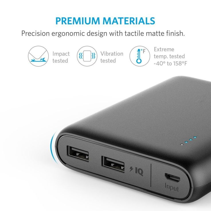 Anker 10400 Portable Charger - 2-Port Ultra Portable Phone Charger Power Bank with PowerIQ and VoltageBoost Technology for iPhone, iPad, Samsung Galaxy and More  #techlaunches #buyatwebsite #3DaysDelivery #CODINDIA #theimmart #exclusive
