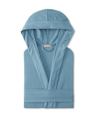 60% OFF Coyuchi Cloud Brushed Flannel Hooded Robe (Deep Dusty Aqua)