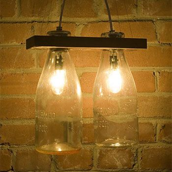 luminaires bouteille