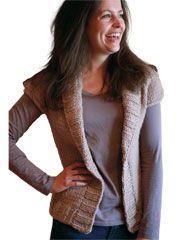 Cardigan & Jacket Knit Patterns - Abbi: Shawl Collar Cardigan