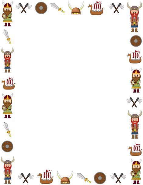 Printable viking border. Free GIF, JPG, PDF, and PNG downloads at http://pageborders.org/download/viking-border/. EPS and AI versions are also available.
