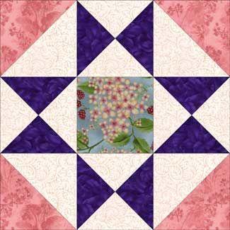 """Free Quilt Block Patterns: Ohio Star Quilt Block Pattern Variation - 3 sizes: 6"""", 9"""", 12"""""""