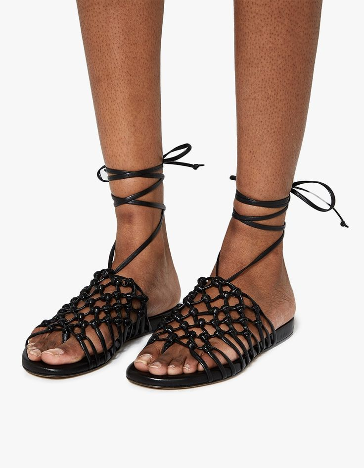 ALUMNAE Knotted Suede Wrap Block Heels in .