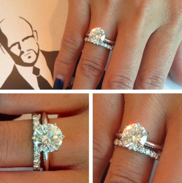 Classic. Obsessed. except I would want the engagement ring to have the same diamond band as the wedding band!
