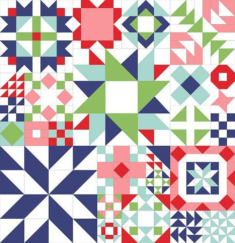 I am so excited to announce my very first quilt along at The Aqua Umbrella! I hope you will join me as we pick our favorite fabrics to create this fun sampler quilt. For this quilt we will be using…