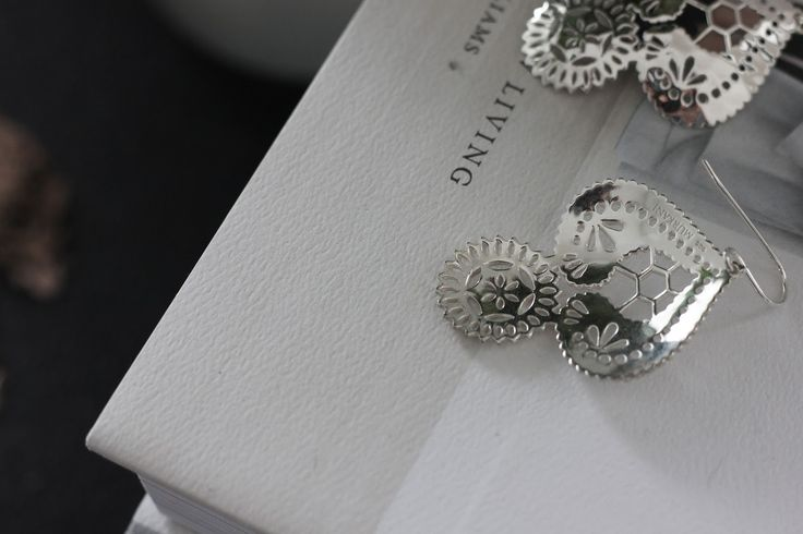 T & K: Poetic Justice.  Our gorgeous Sterling Silver Large Doily Vintage Lace Earrings. Now available at www.murkani.com.au