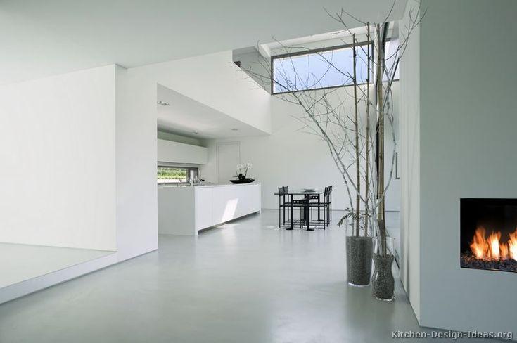 Modern White Kitchen Cabinets #08 (Kitchen-Design-Ideas.org)