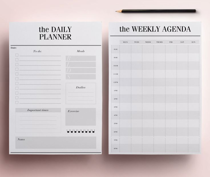 Planner Printable A4 Pack 13 Modern Organizer Pages including Daily Planner Meal Planner Weekly Agenda To Do List INSTANT DOWNLOAD (8.00 GBP) by CrossbowPrintables