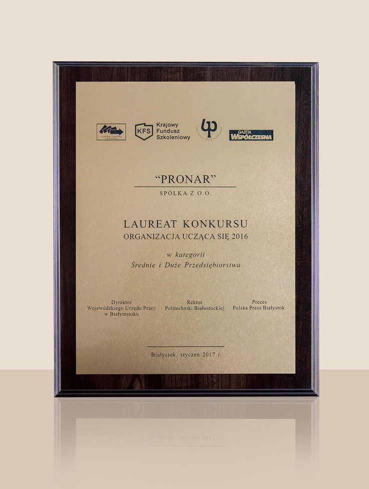 """Pronar become the laureate of the competition """"Learning organization 2016″ in the category of Medium and Large Enterprises. The main objective of the contest is to promote the employers of Podlasie region who invest in the development of employee competencies, are oriented in management knowledge and skills of employees, stand out as flexible organizational structure …"""
