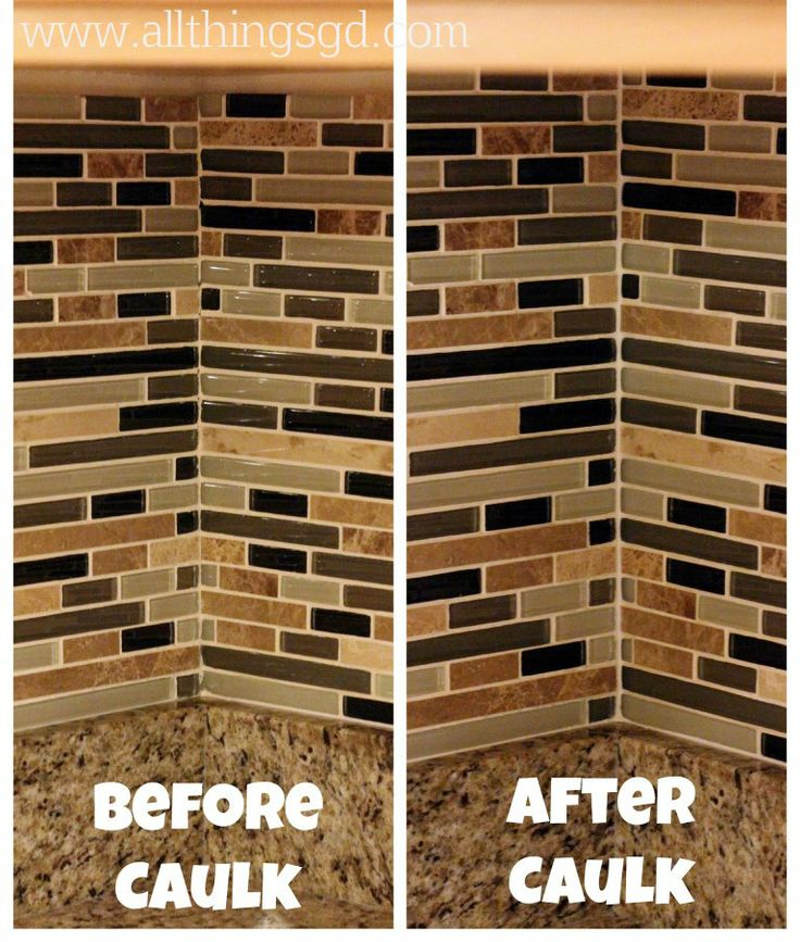 Caulking Kitchen Backsplash Mesmerizing Design Review