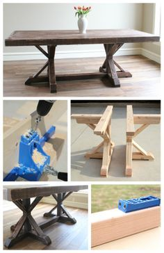 Unfinished Wooden Chairs Cheap Swimming Pool Lounge Discount 95 Best Farmhouse Table Images On Pinterest   Round Pedestal Dining Table, Bricolage And Carpentry