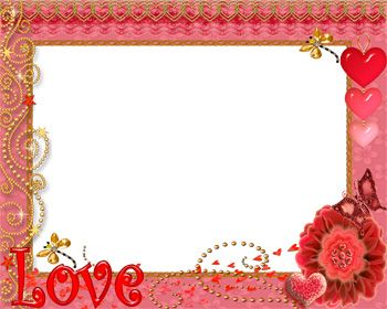 Red Photo Frame of Love.