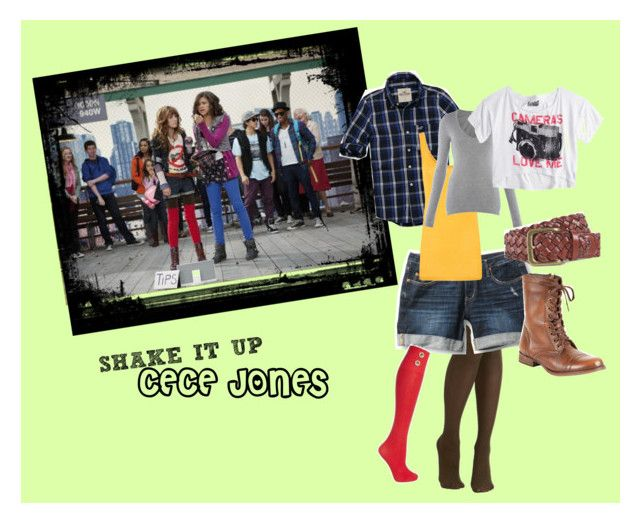 """""""Cece Jones from Shake it up"""" by alexarramirez ❤ liked on Polyvore featuring Corey Lynn Calter, Quiksilver, Steve Madden, Red Herring, With Love From CA, Hollister Co., iHeart, Splendid, shake it up and cece"""